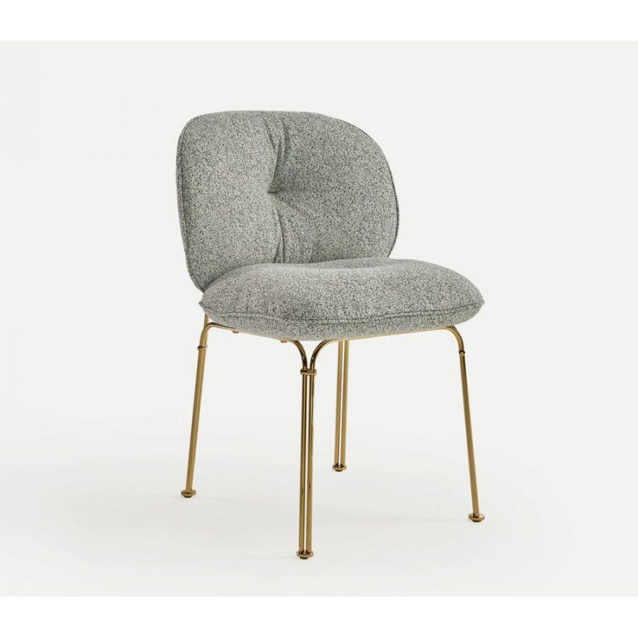 Nova Interiors 320.41 Mullit Metal Structure Chair In Gold