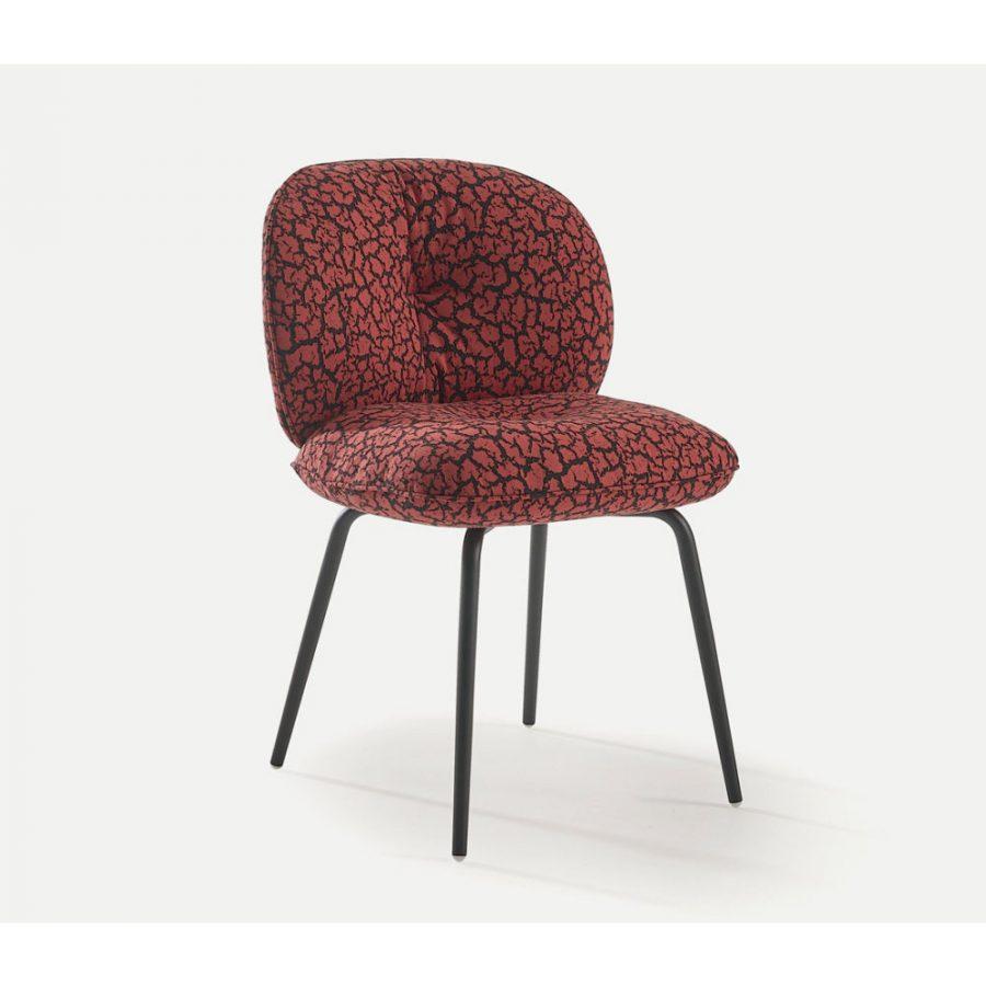 Nova Interiors 320.41.7 Mullit Chair With Metal Feet In Black