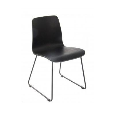 Nova Interiors Copenhagen Chair Sled Frame Black