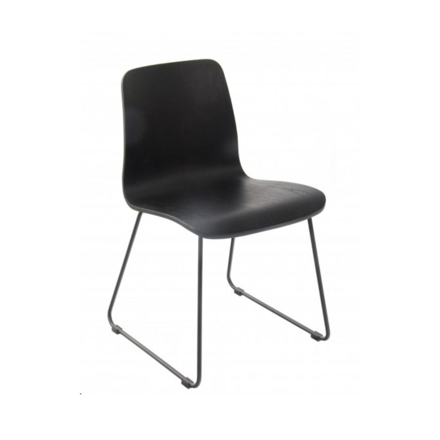 Nova Interiors Copenhagen Chair Sled Frame Black