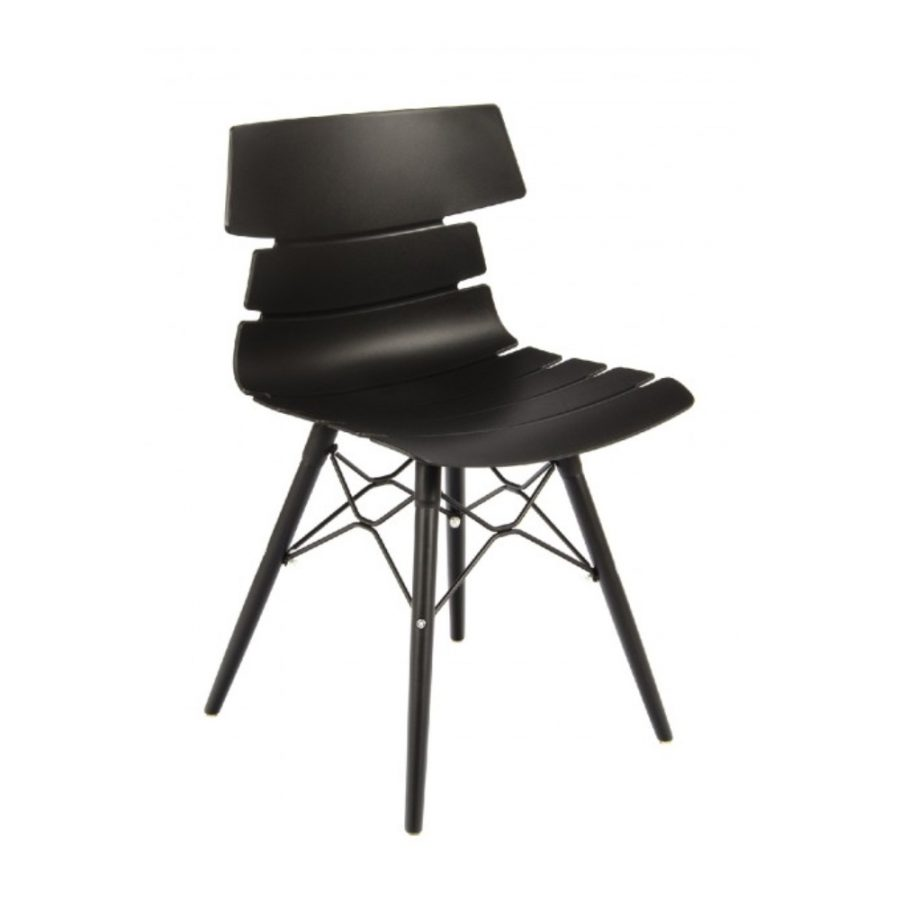 Nova Interiors Hoxton Side Chair K Frame Black 360024